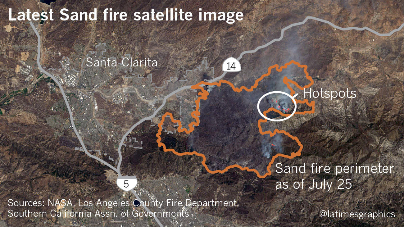 Sand Fire Updates More Than  Acres Burned In Santa Clarita - Los angeles county air quality map