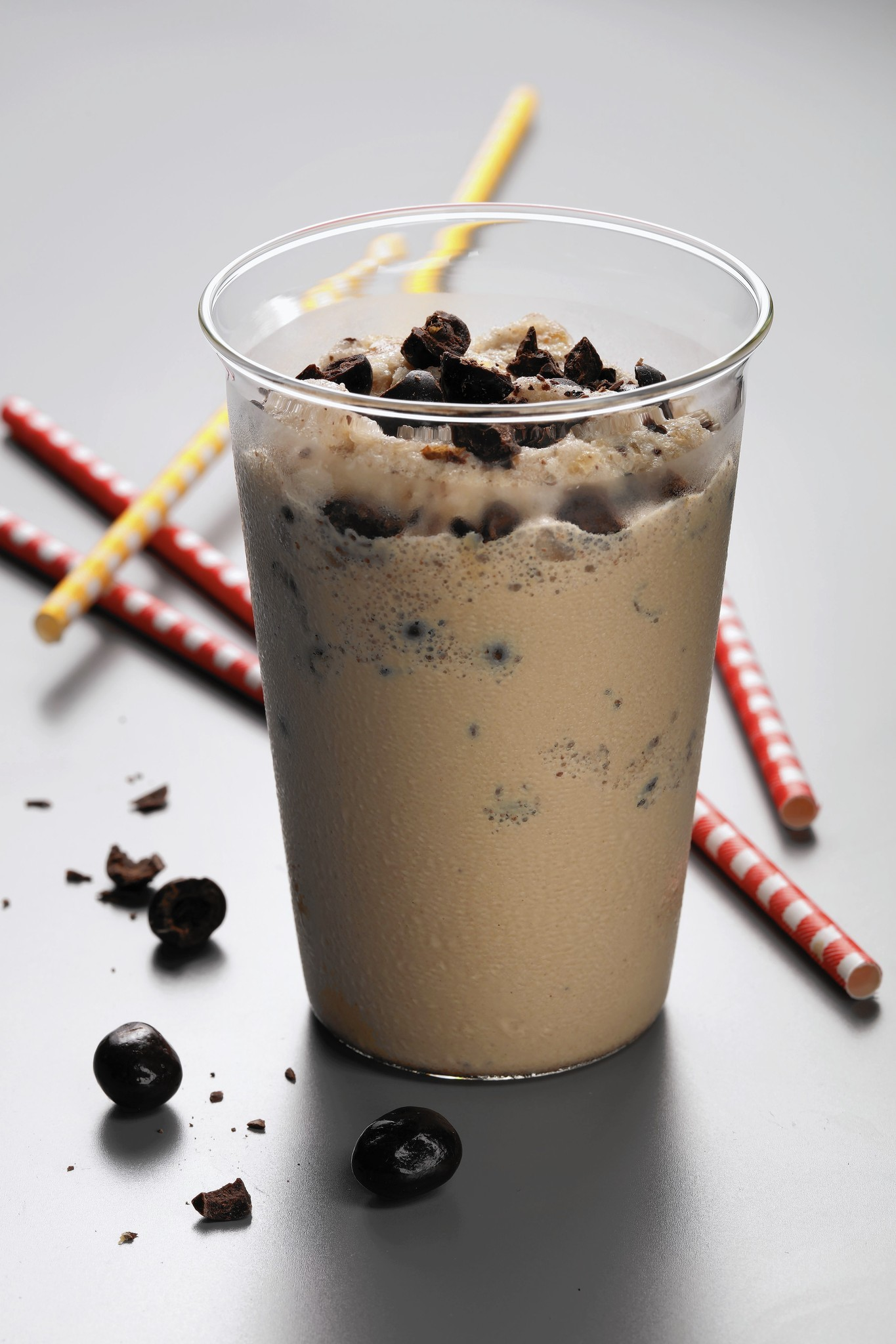 Chocolate-covered beans give extra kick to iced coffee