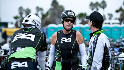 Herbalife Chief Executive Michael O. Johnson at the 2011 Los Angeles Triathlon, which was presented by Herbalife.