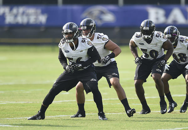 Nine players not practicing as Ravens open training camp