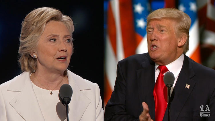 The ultimate side-by-side convention comparison of Clinton and Trump on the issues
