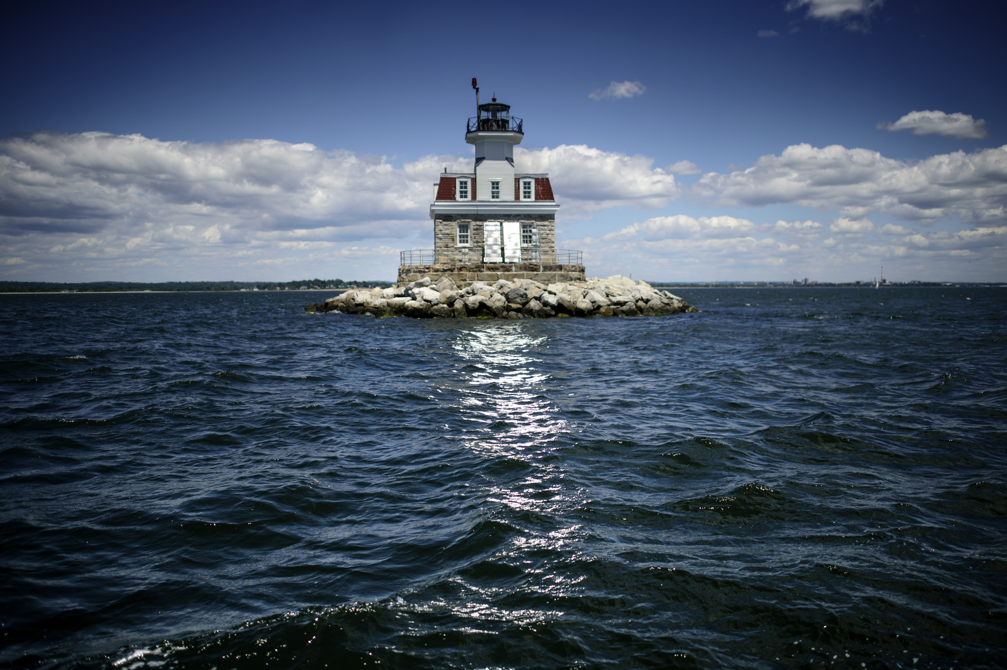 Restored From Storm Sandy Damage, Penfield Reef Lighthouse ...