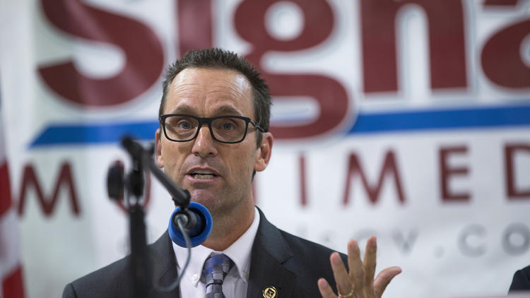 Rep. Steve Knight (R-Palmdale) is one of three California congressmen Republicans consider most vulnerable in 2018. (Gina Ferazzi / Los Angeles Times)