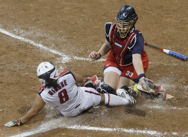 The last time softball was in the Olympics was 2008, when Japan defeated the U.S. in the gold-medal game. (Elaine Thompson / Associated Press)