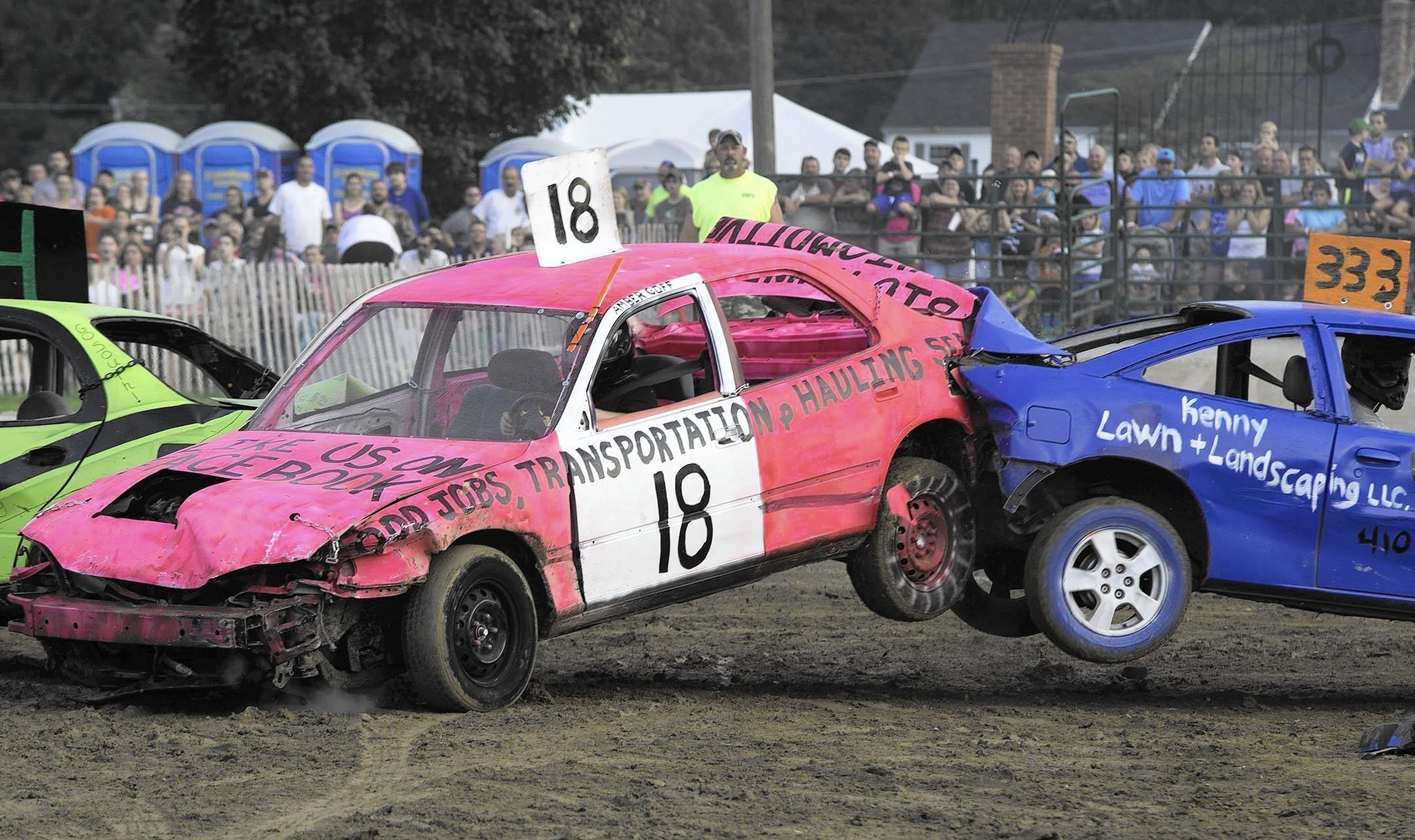 Car crashes and smashes elicit cheers at 4 h fair s demolition derby carroll county times