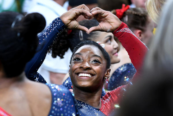 Simone Biles and the rest of the U.S. women's gymnastics team compete today. (Wally Skalij / Los Angeles Times)