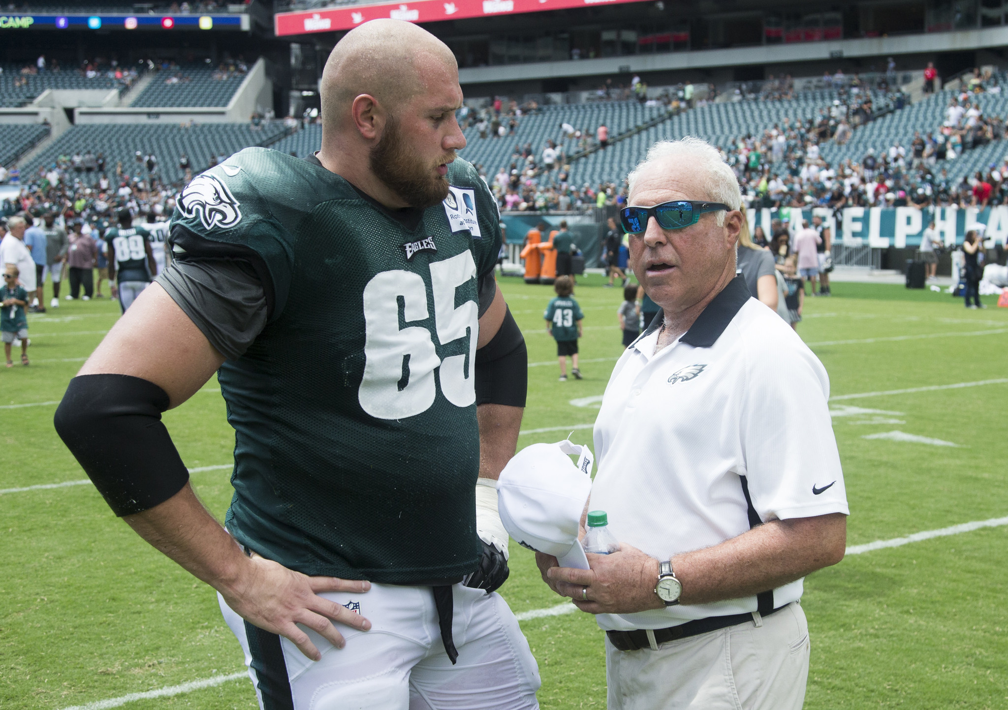 What would Eagles offensive line look like without Lane Johnson
