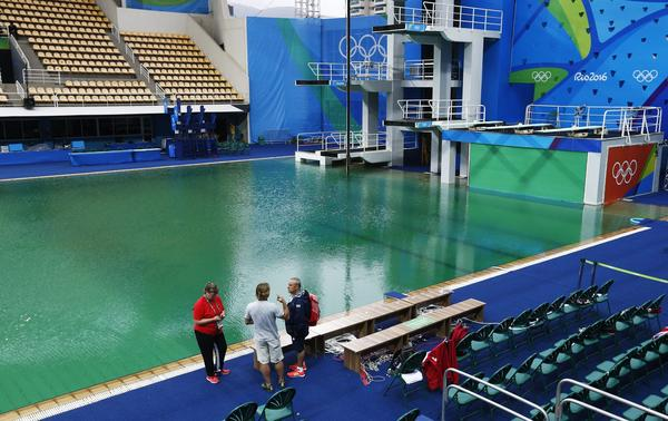 the olympics diving pool on wednesday morning larry w smith european pressphoto agency