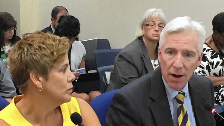 State Senators Jennifer Bertino-Tarrant, Mike Connelly