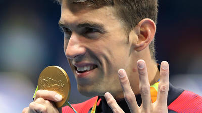 Michael Phelps' closing act