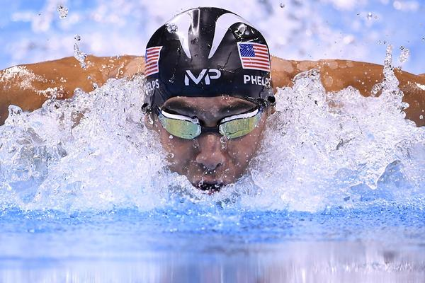 Michael Phelps swims one more time tonight. (Gabriel Bouys / AFP/Getty Images)