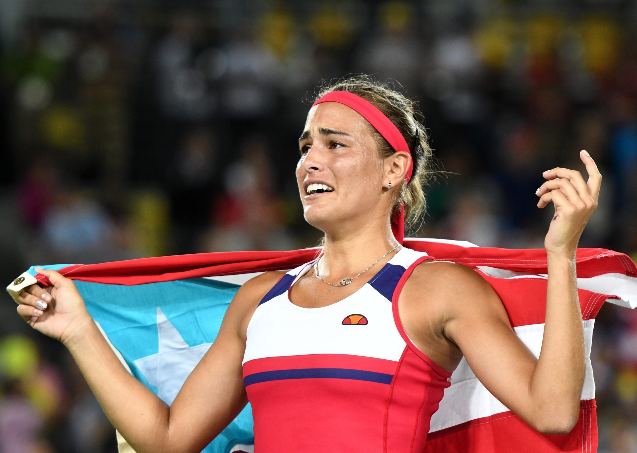Tennis player Monica Puig wins Puerto Rico's first-ever Olympics gold medal