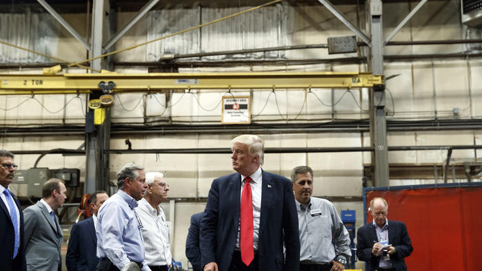 Early in Donald Trump's career, his family's real estate business was accused of systemic racial bias in approving tenants for apartments. (Evan Vucci / Associated Press)