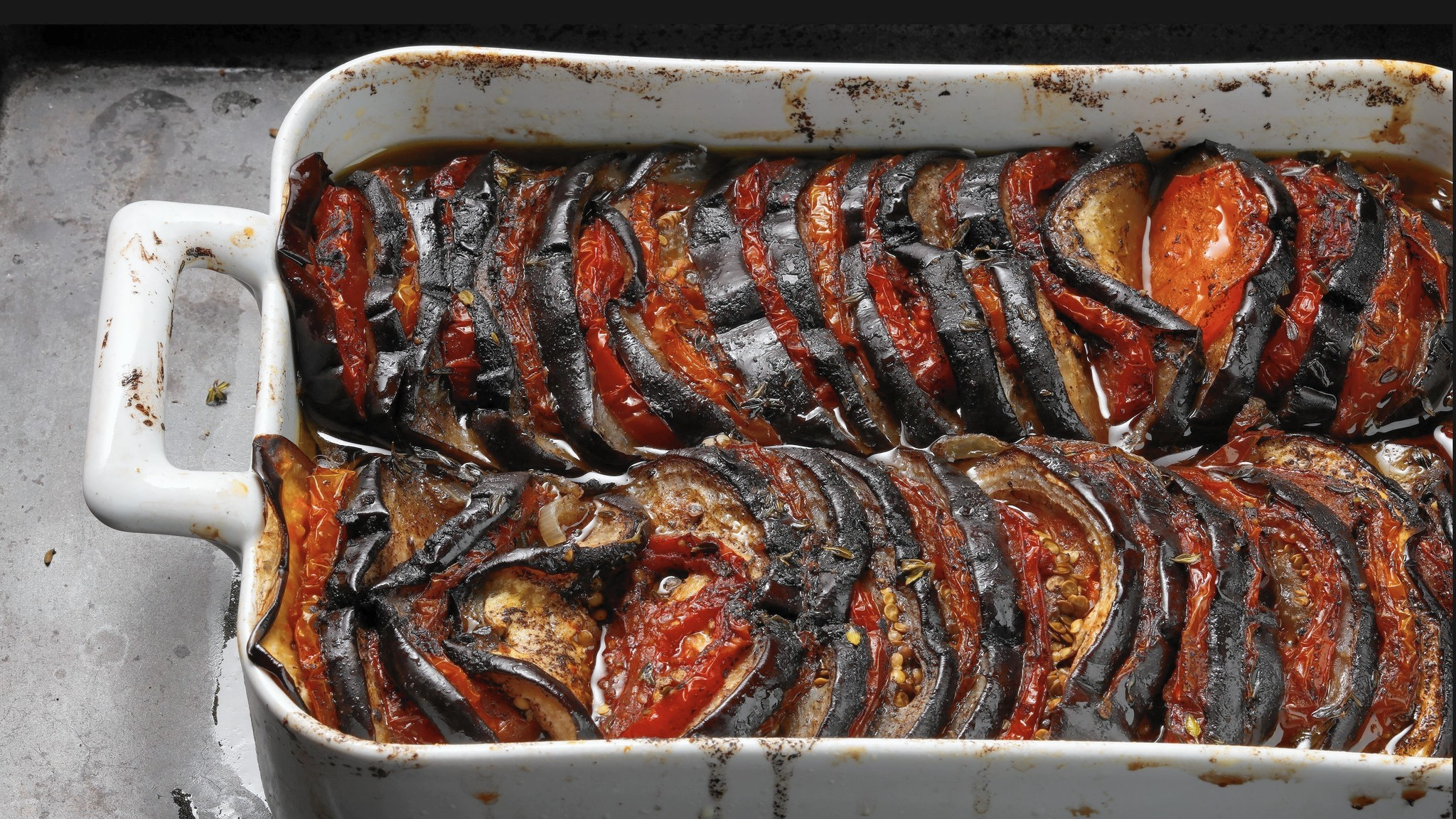 Eggplant and tomatoes pair in easy make-ahead summer casserole