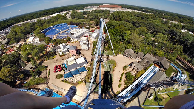 Interactive timeline Roller coasters of Busch Gardens