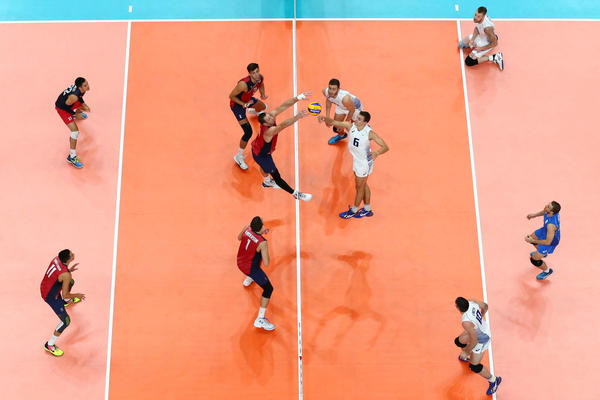 Men's volleyball is in quarterfinals action today in Rio. (Buda Mendes / AFP/Getty Images)