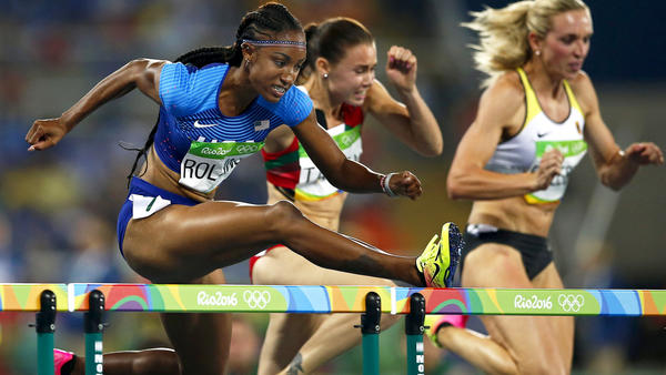 Brianna Rollins leads American sweep in 100 hurdles
