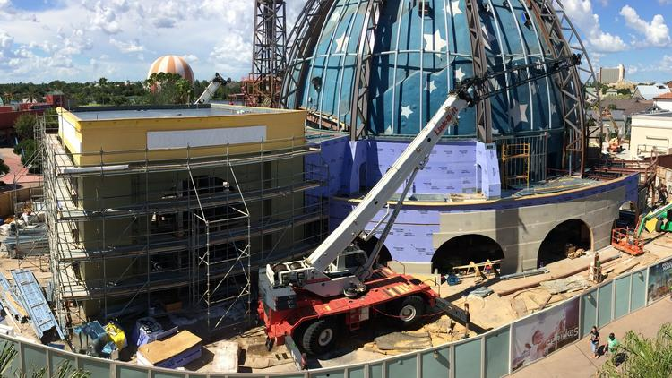 Planet Hollywood construction at Disney Springs