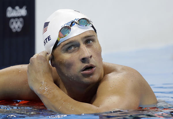 Ryan Lochte during competition in Rio. (Michael Sohn / Associated Press)
