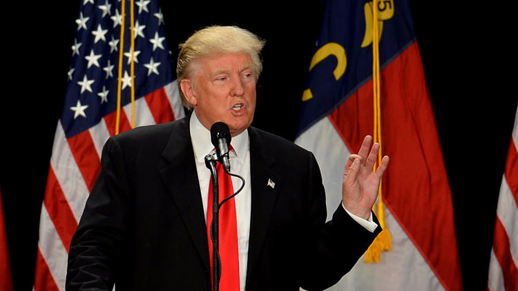 Donald Trump in Charlotte, N.C., on Thursday. (Loren Elliott / Associated Press)