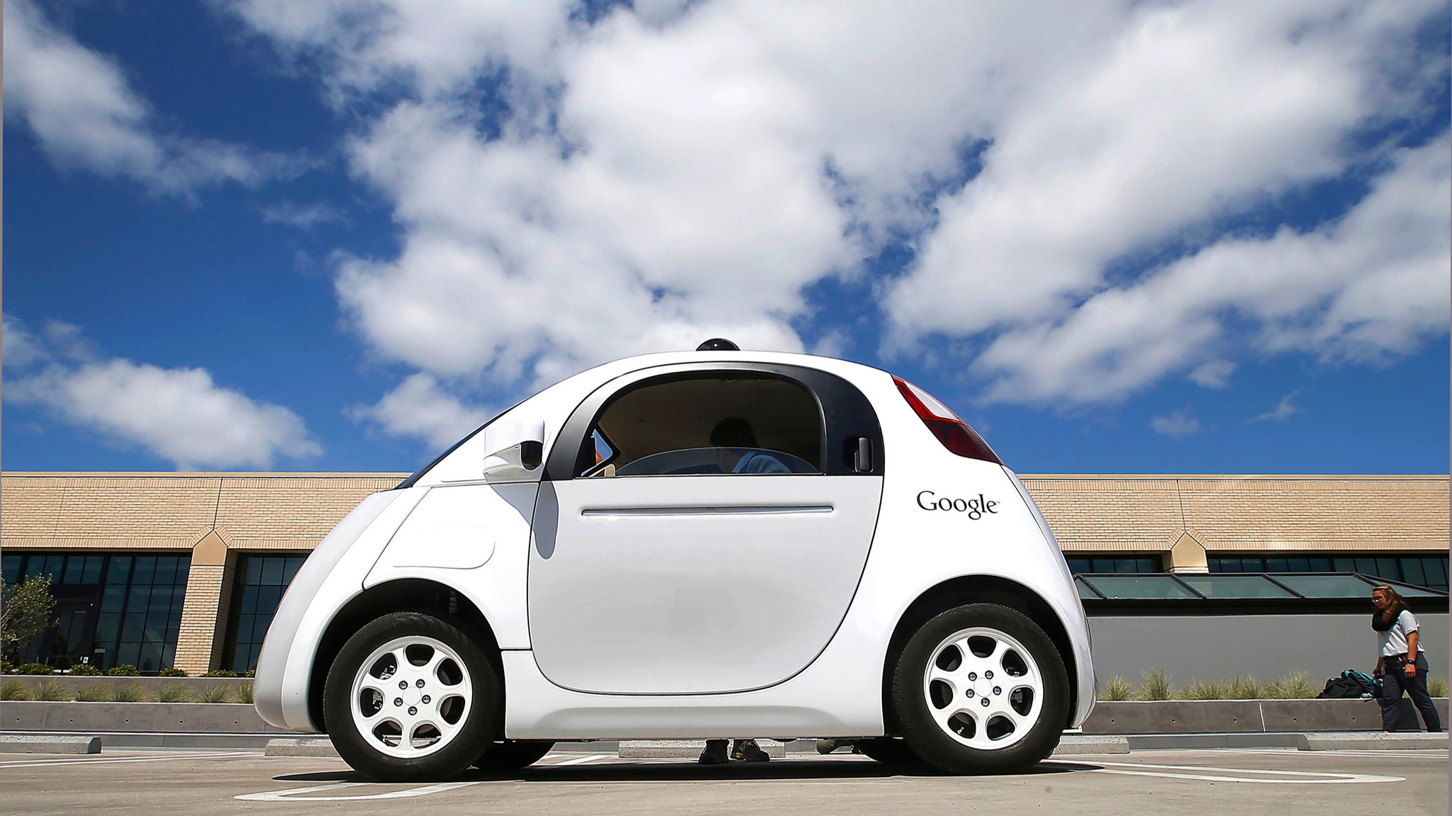 The latest version of Google's self-driving car during a demonstration in Mountain View, Calif., in May 2015.
