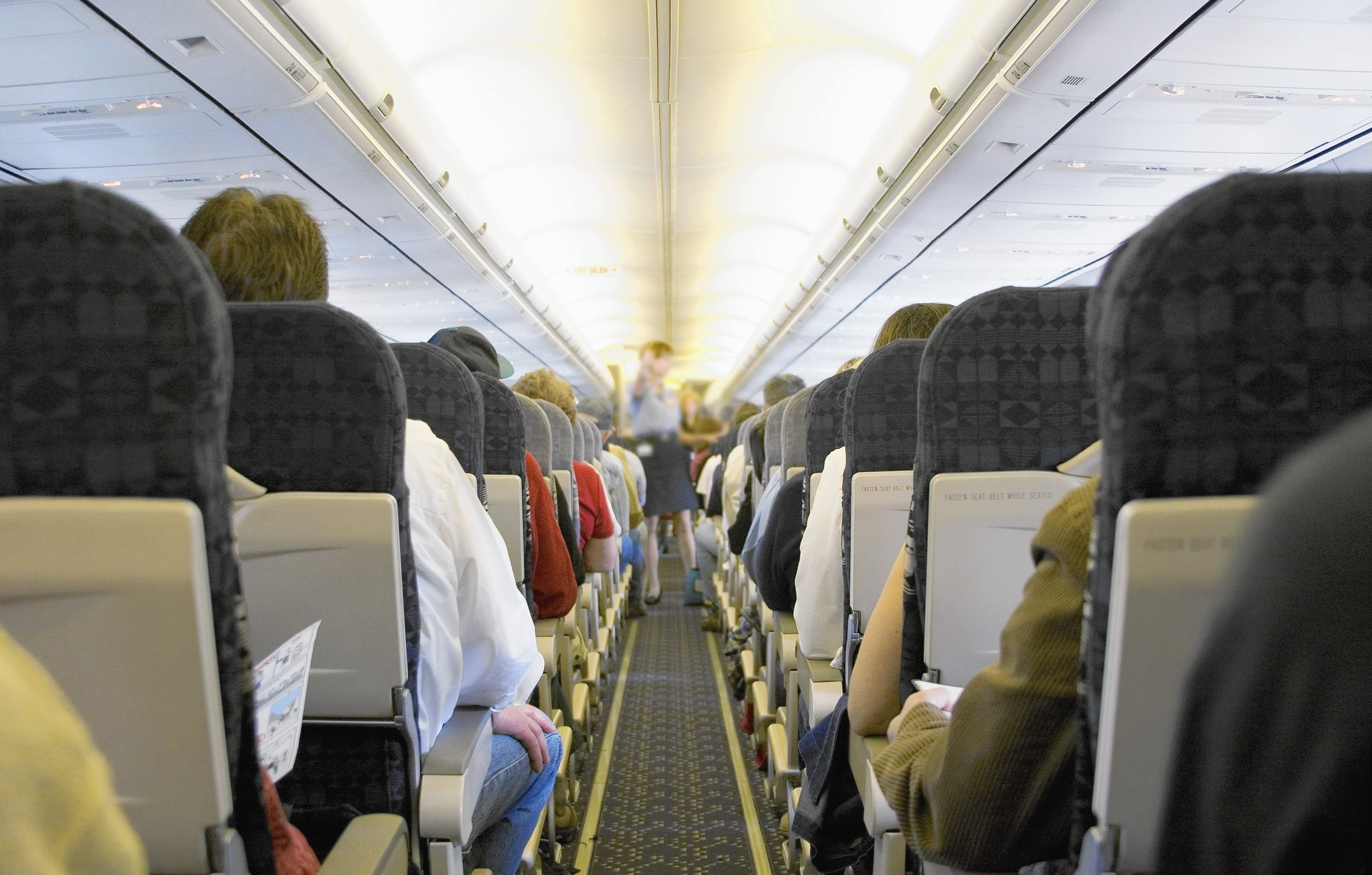 How to deal with someone invading your space on a plane