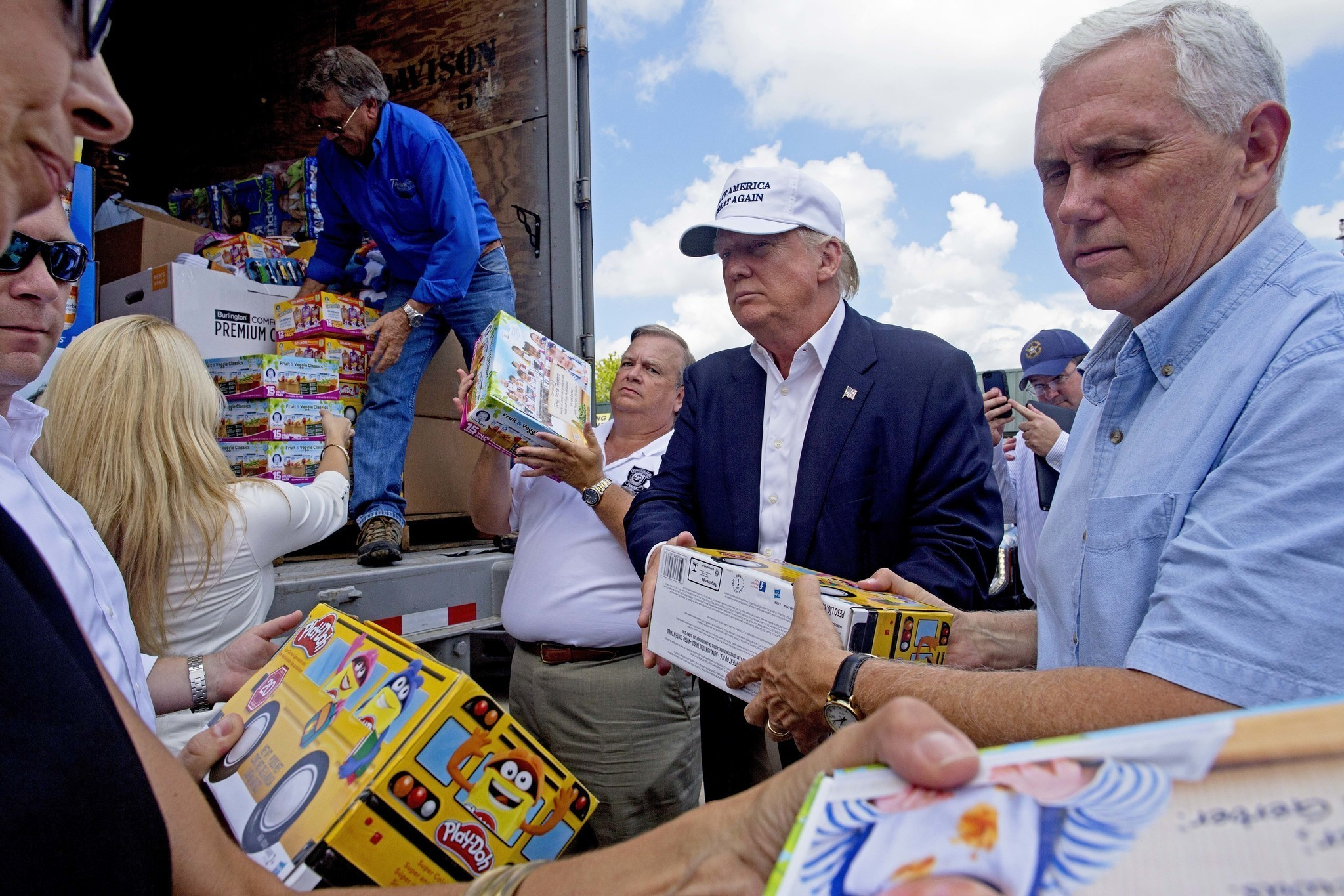 Louisiana Flood Victims Praise Donald Trump For Visiting