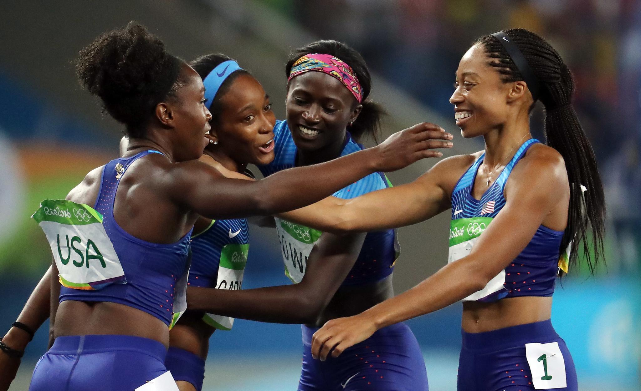 U.S. women win 400-meter relay, repeat as gold medalists - Chicago Tribune