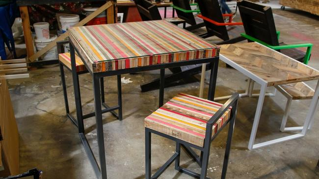 Awesome Upcycled Table And Chairs Made In The Industrial Arts/Maker Department At  The ART /