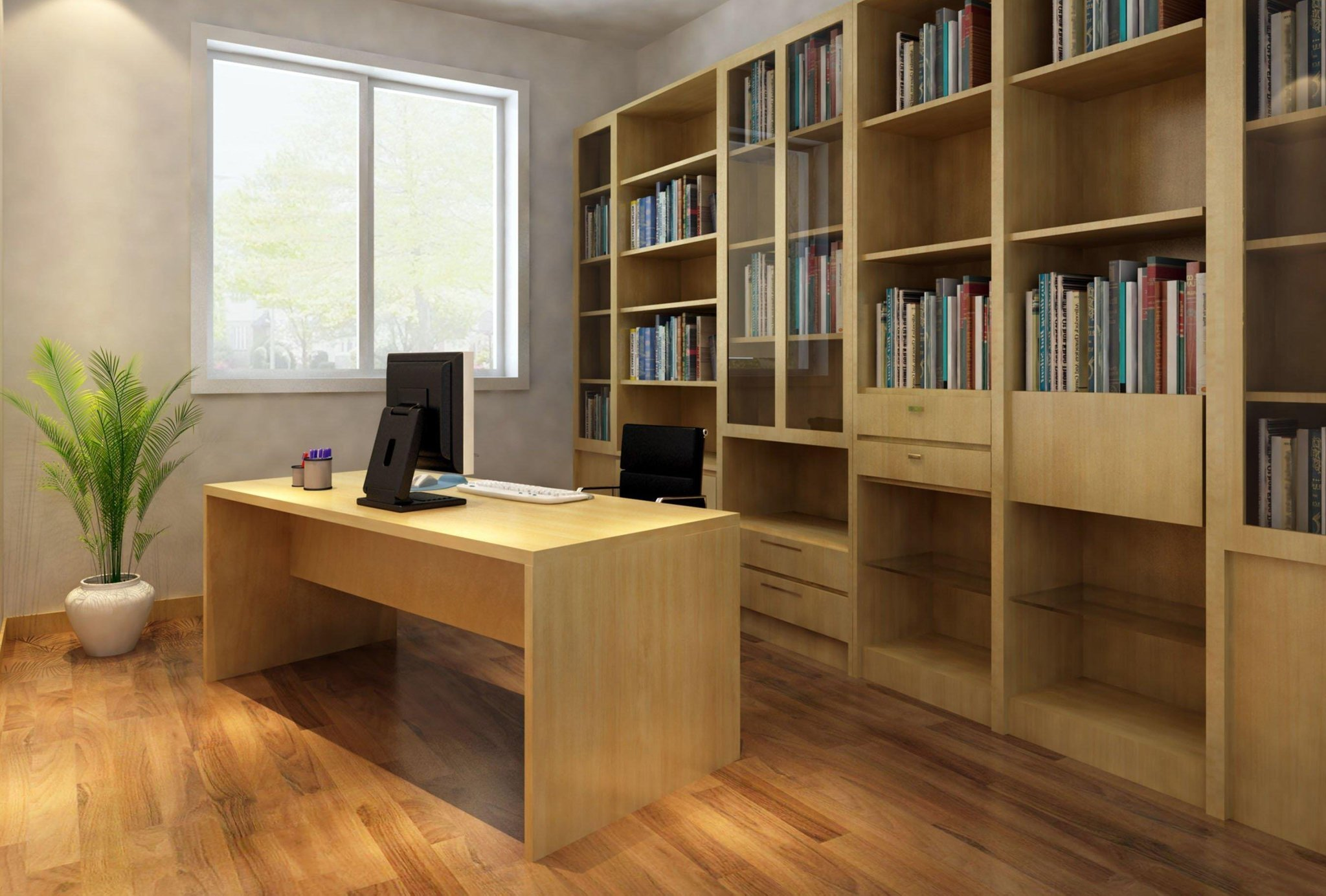 Hide a desk view in gallery computer deskarmoire a for Hideaway home office