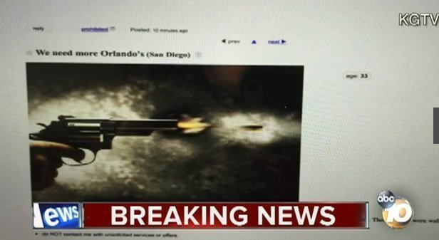 Craigslist ad references Orlando, says 'San Diego you are ...