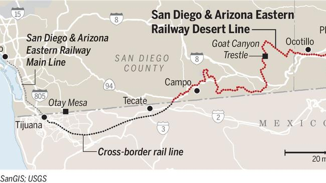 Desert Line gets new operator, repairs starting soon - The San Diego ...