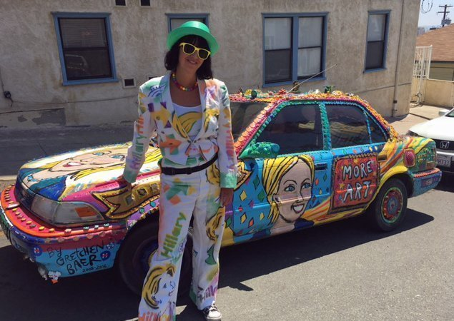 Arizona Artist And Her Car Get Revved Up For Hillary The San - Bisbee car show
