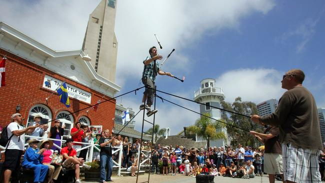 Seaport Village Includes S Restaurants And Free Entertainment At Its 13 2 Acre Site