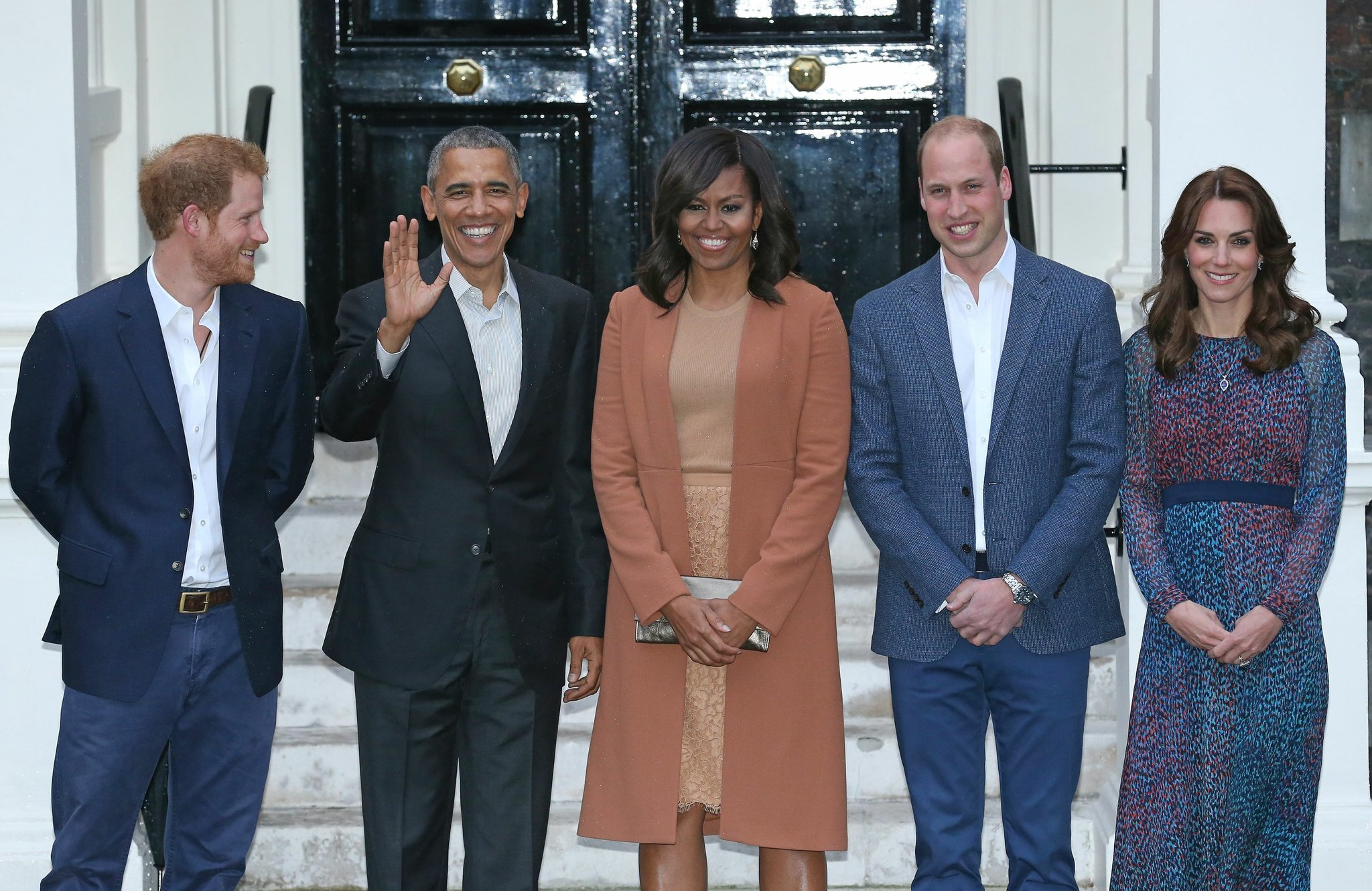The Latest Obamas Capping Day At Kensington Palace The San Diego