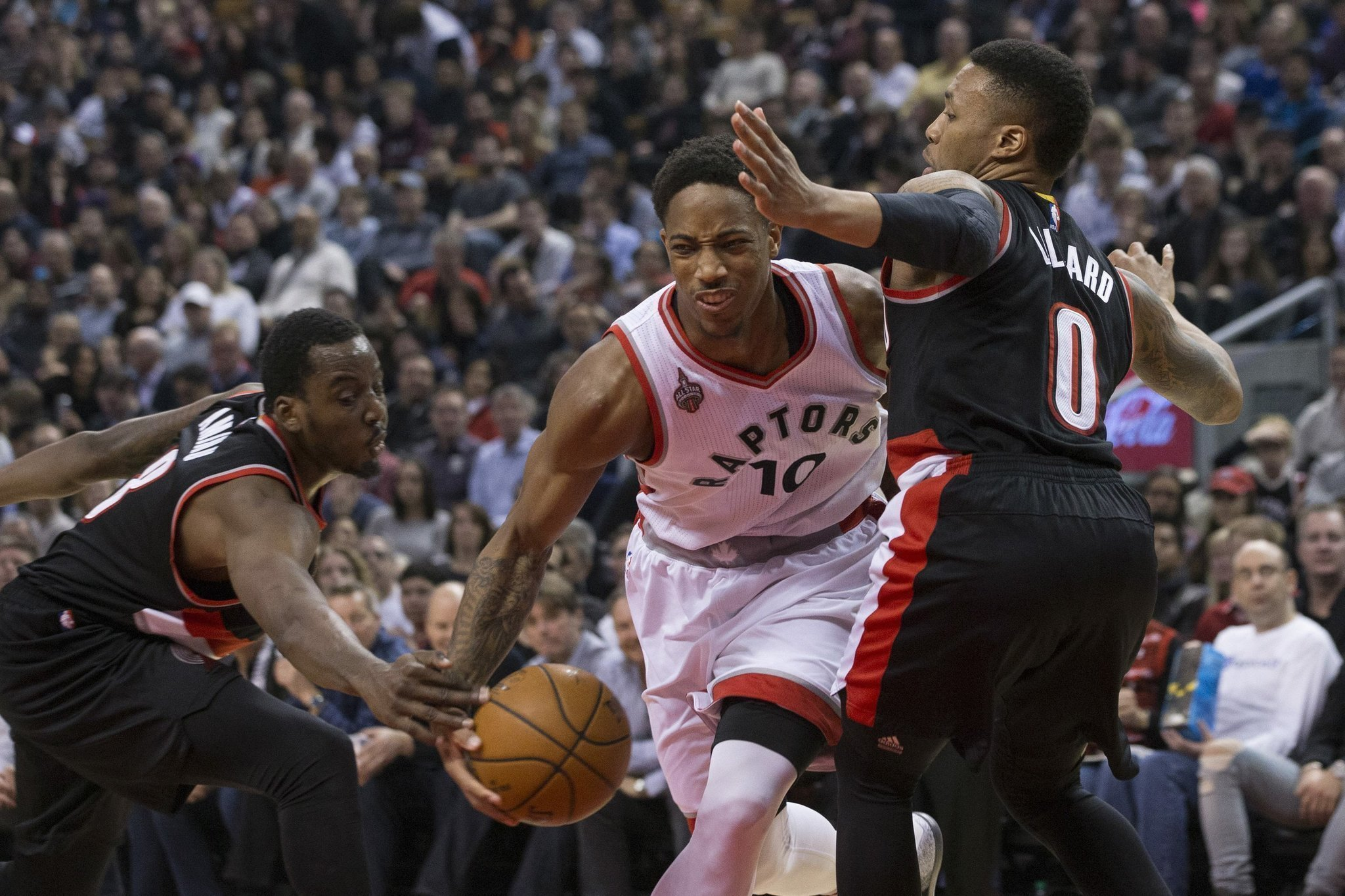 DeRozan s FT record Raptors beat Lillard Blazers The San