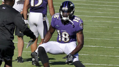 Ravens wide receiver Breshad Perriman looks comfortable in return to practice