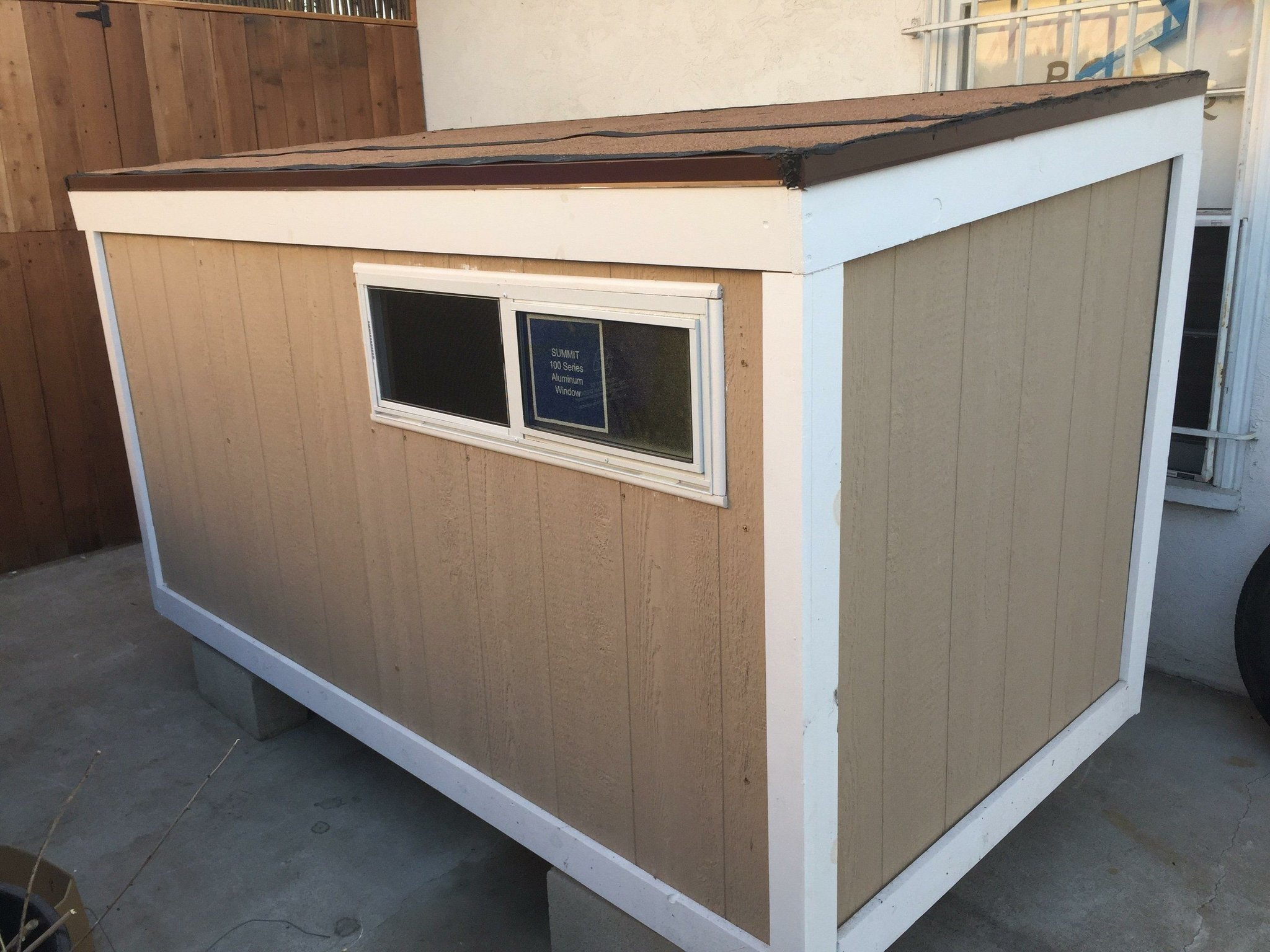 A woman who raised money for a tiny house for a homeless man will