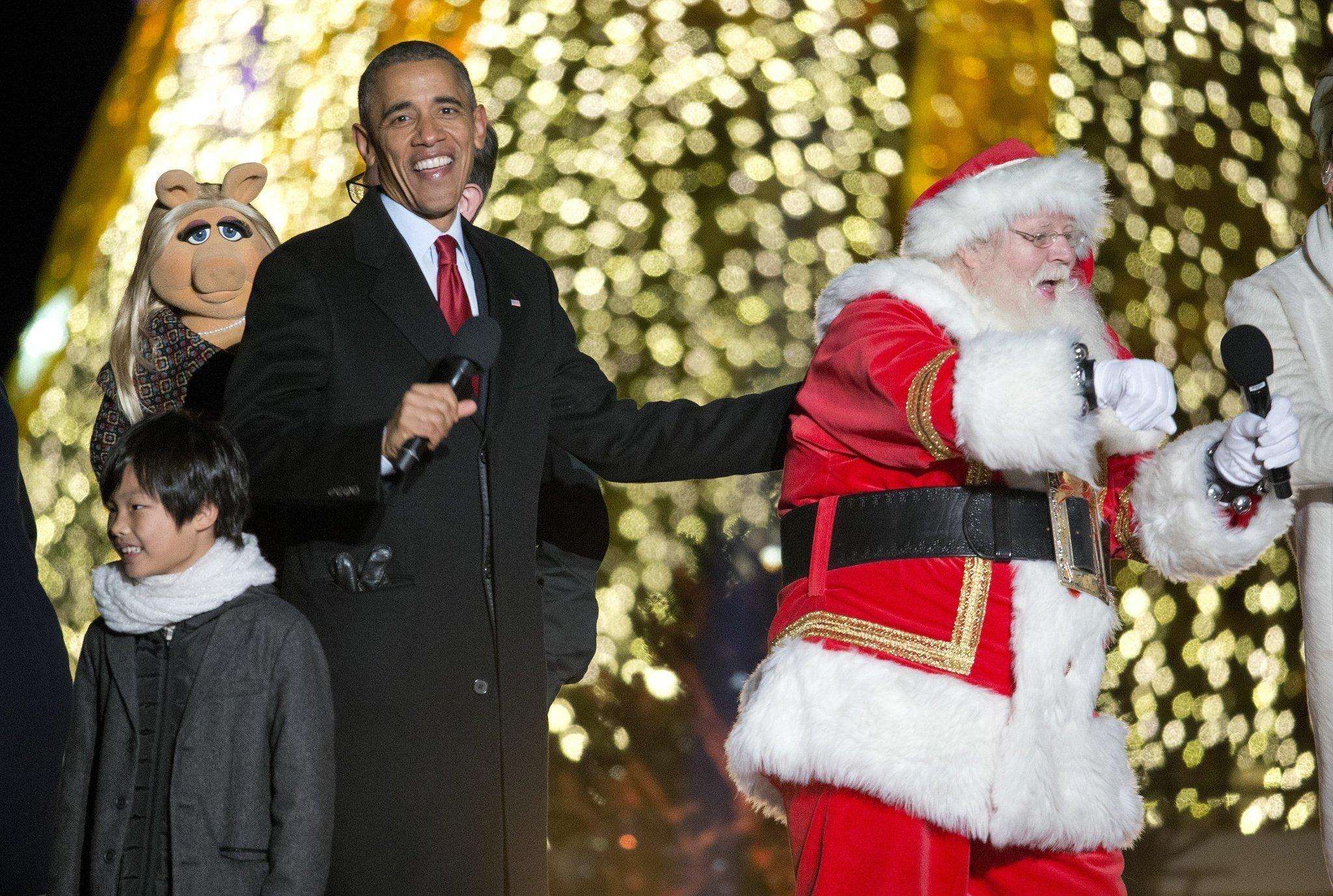 Obama lights Christmas tree, appeals for brotherhood - The San Diego ...