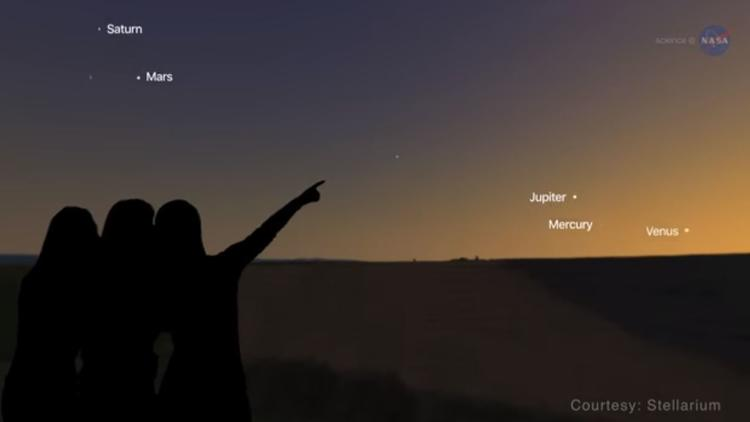 Spectacular conjunction of Venus and Jupiter on Aug. 27