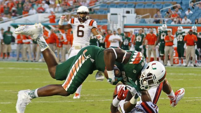 Kaaya throws for 296 yards help Miami beat Va. Tech 30-20 - The San ...