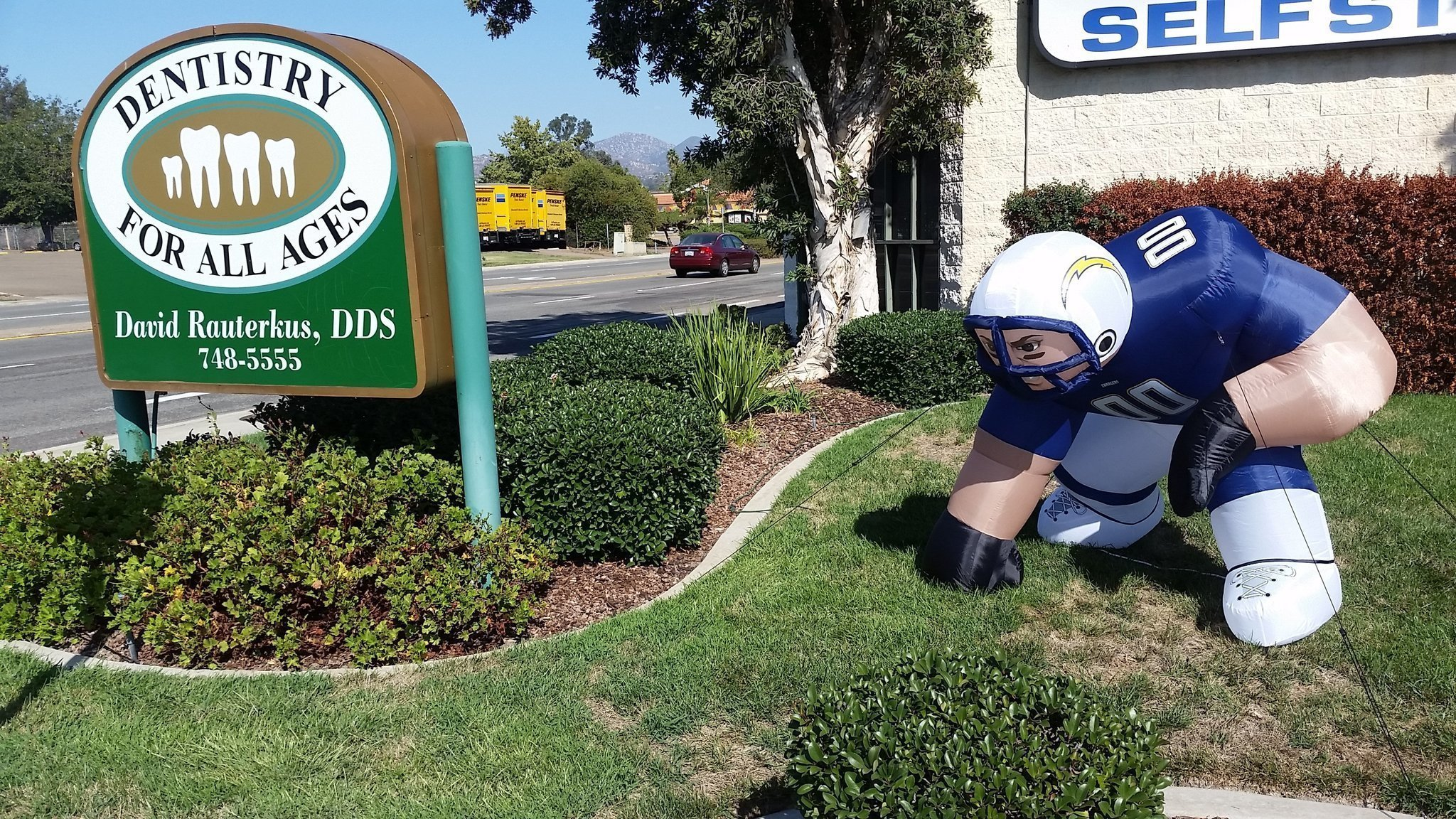 Inflatable Charger Quot Bubba Quot Stolen In Poway The San