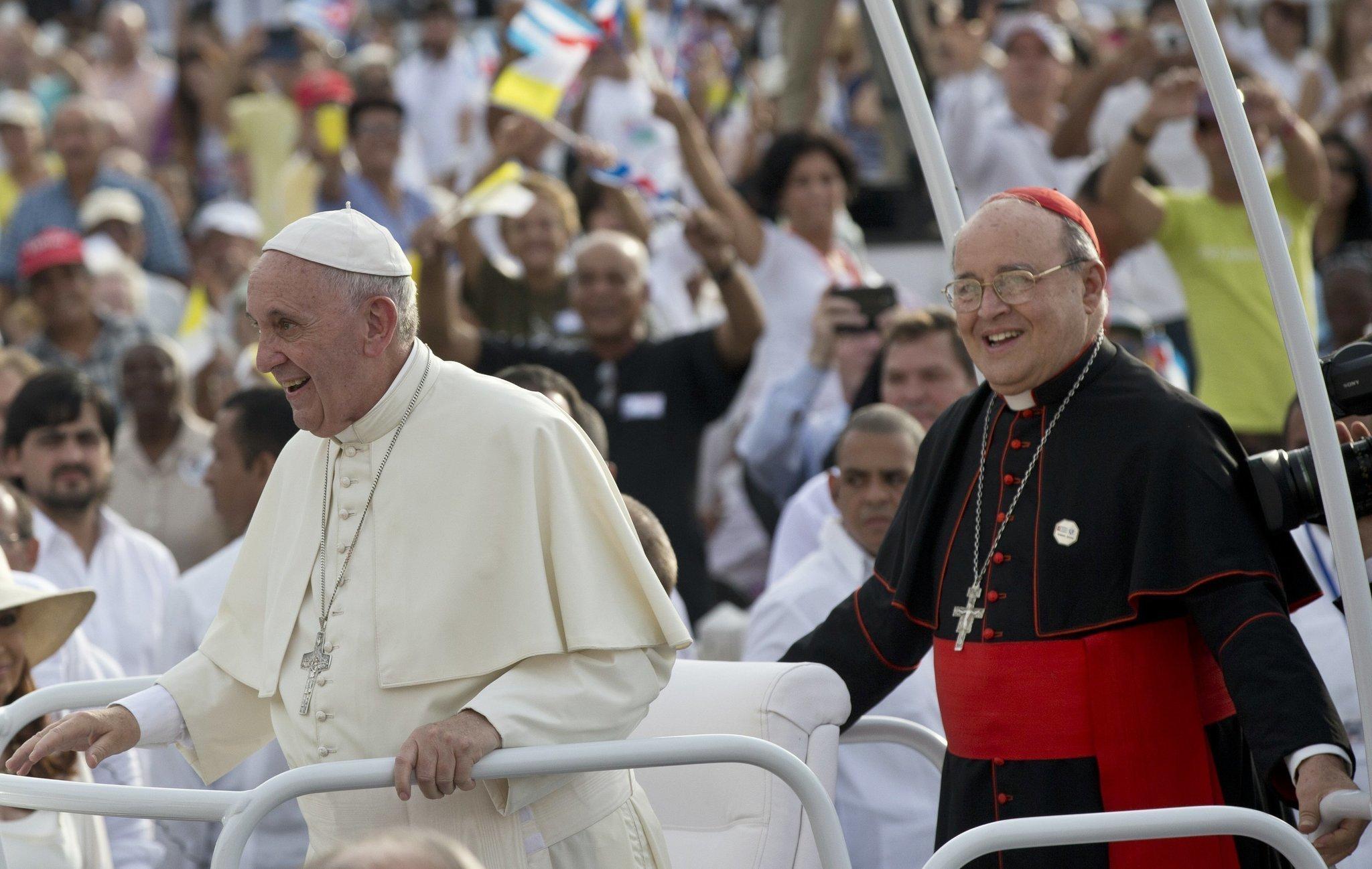 Resultado de imagen para pope francis and caradinal jaime ortega