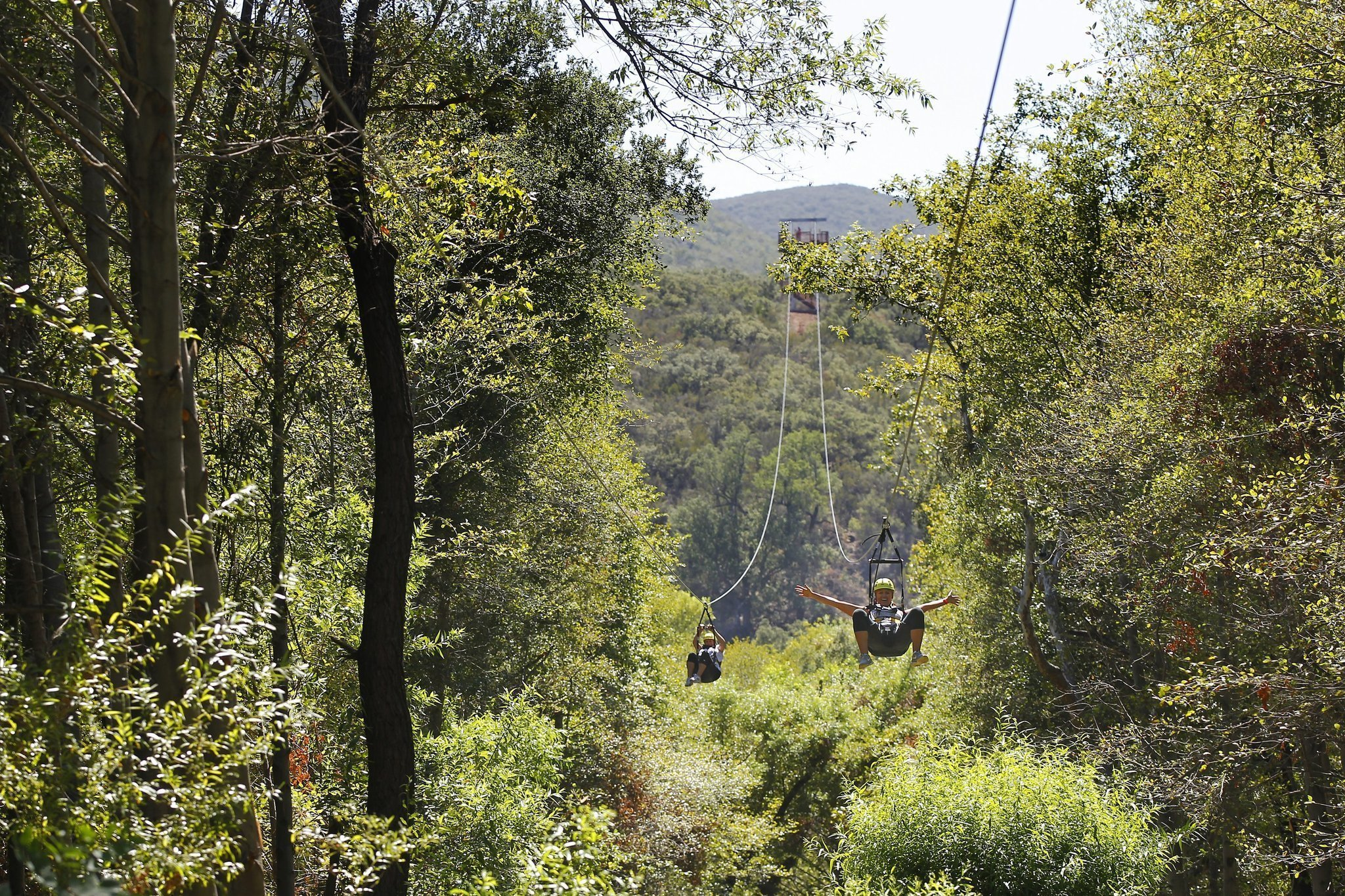 huge zip line to debut on la jolla reservation the san diego