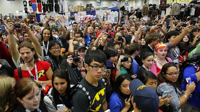 Image result for fans at a comic con