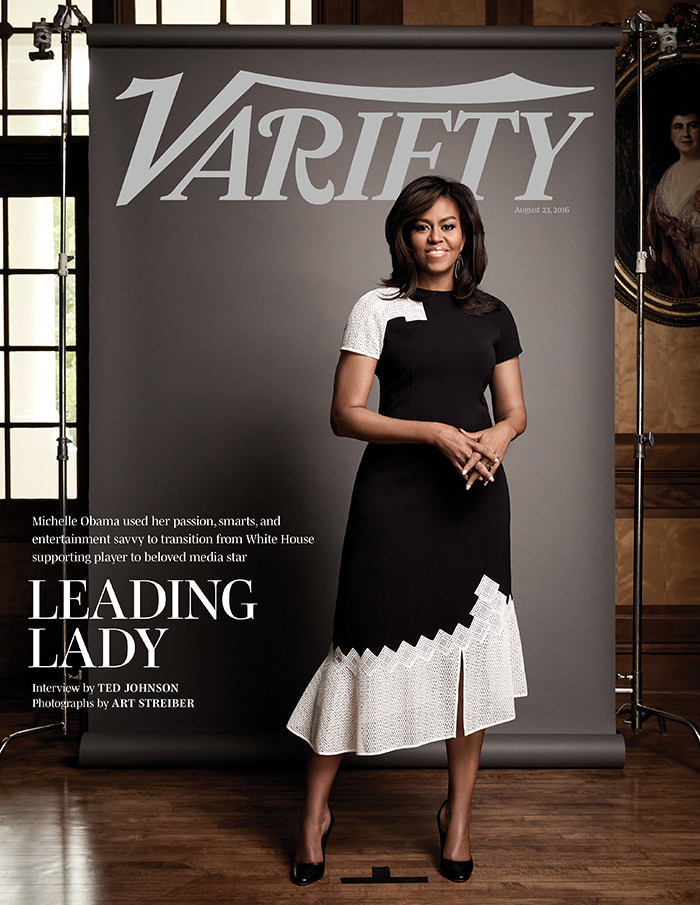 First Lady Michelle Obama on the August 23, 2016, issue of Variety magazine.
