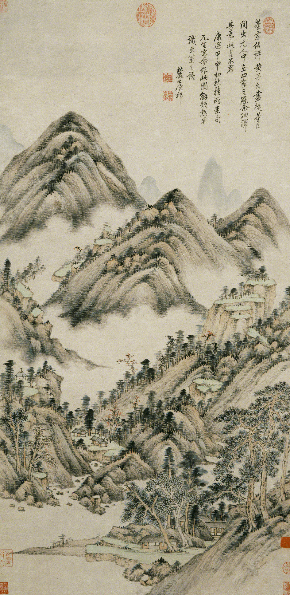 "Wang Yuanqi, ""Landscape in the Style of Huang Gongwang,"" 1704, ink on paper"