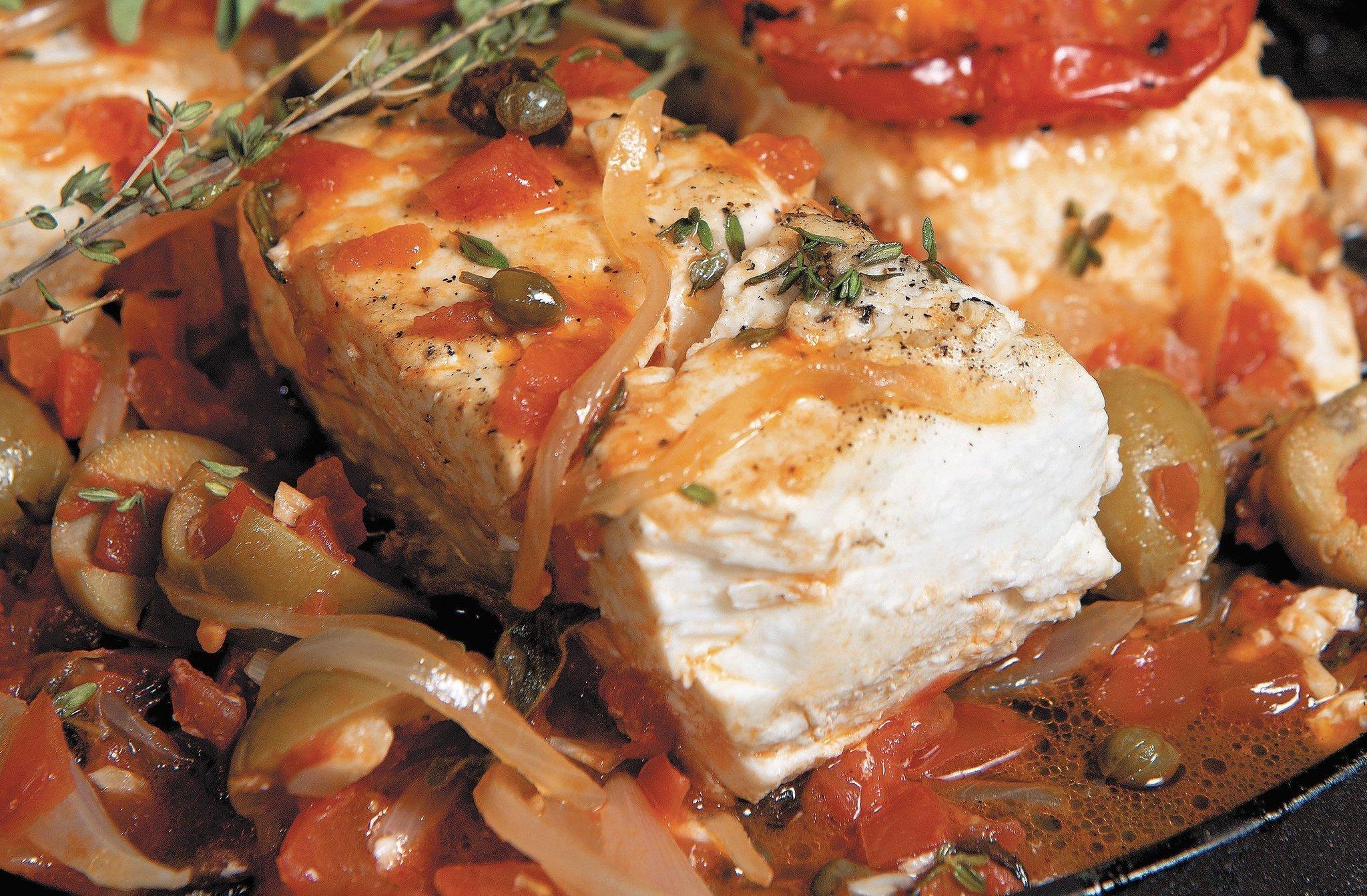 Shannon bard s veracruz style fish the san diego union for Fish veracruz recipe