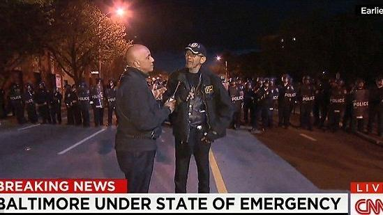 Vietnam Vet Robert Valentine Talks To CNN Monday Night In Baltimore After  Telling Rioters To Go