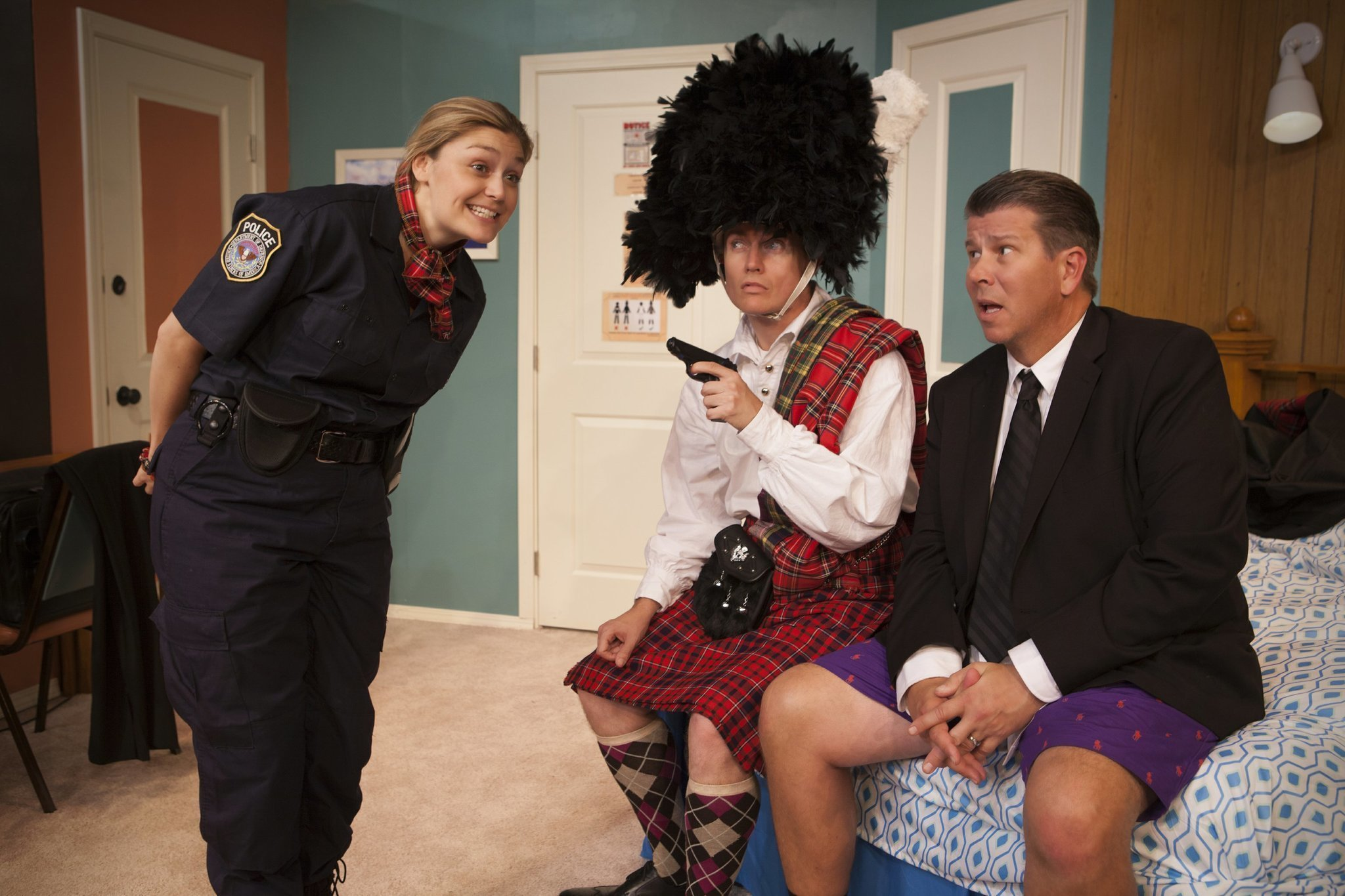 Unnecessary farce earns laughs at north coast rep the for Farcical satire